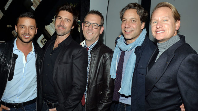 "Queer Eye cast members Jai Rodriguez, Kyan Douglas, Ted Allen, Thom Filicia and Carson Kressley  attends the Tribeca Film and The Cinema Society screening of ""A Single Shot"" after party at Bar Nana on September 19, 2013 in New York City."