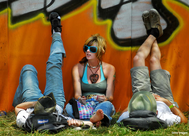 Fans hang out at the Bonnaroo Music and Arts Festival in 2007. (Photo: Jeff Gentner/Getty Images)