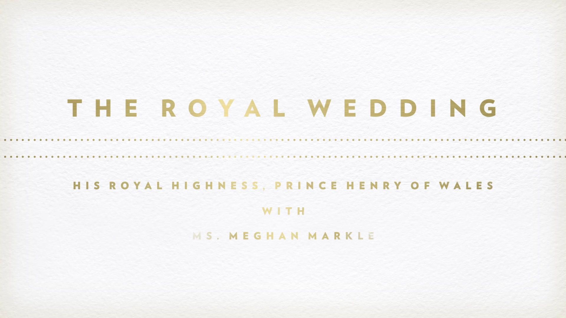 The Royal Wedding Fun Fact: The Invitation   BBC America