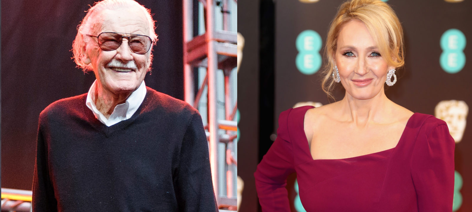 Composite image of Stan Lee and J.K. Rowling