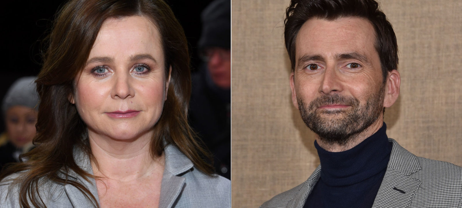 Composite image of Emily Watson and David Tennant