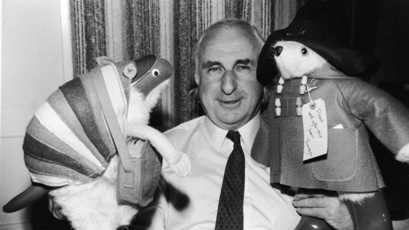 Michael Bond With Paddington Bear