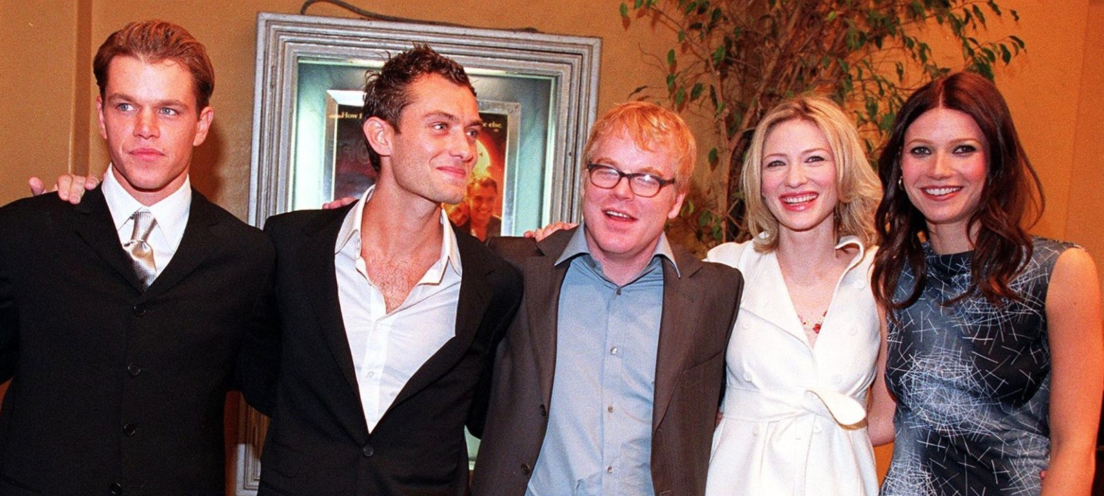 """The cast of """"The Talented Mr. Ripley"""" pose at the"""