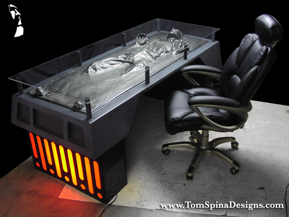 The Han Solo Carbonite Desk