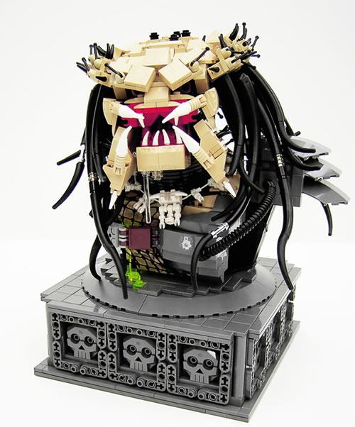 Remarkable LEGO <em>Predator</em> Bust