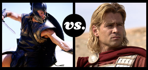 Which Gladiator Deserves Immortality? Brad Pitt or Colin Farrell?