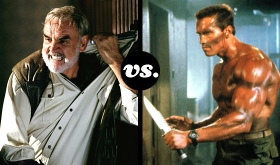 Connery vs. Statham. Schwarzenegger vs. Van Damme. The Fight Is On.