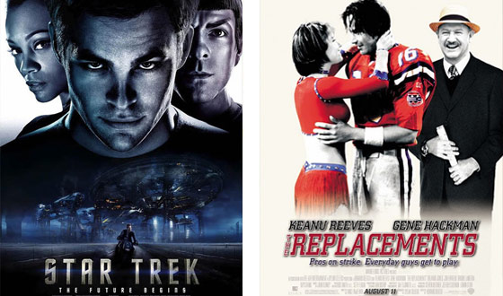 Now or Then: <i>Star Trek</i> or <i>The Replacements</i>?