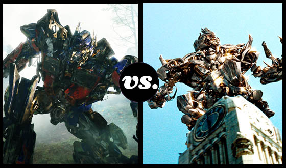Optimus and Megatron Clash Servos in the Transformers Tournament of Doom!