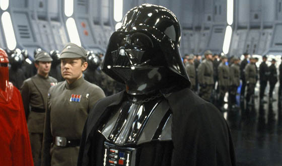 Darth Vader's Helmet Refitted for Quarterback Peyton Manning