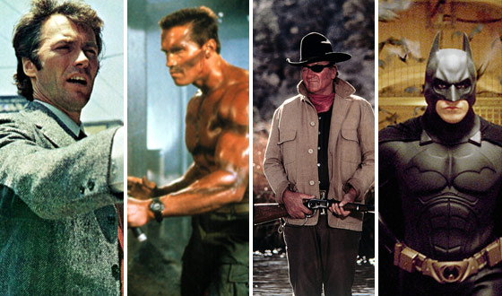 Surprise, Surprise… Dirty Harry, Arnold, the Duke and Batman Are Greatest Movie Heroes