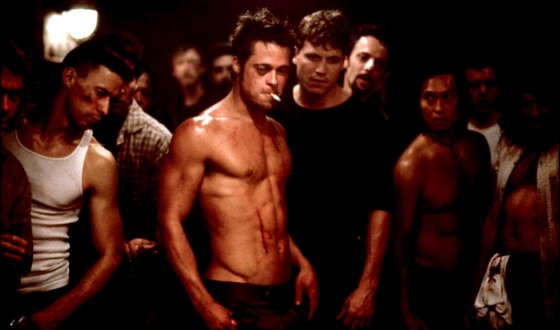 A Tanking Economy and Brad Pitt&#8217;s Tankless Top Make <em> Fight Club</em> Worth Another Look