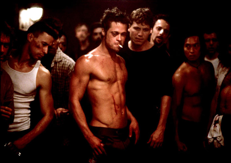 Brad Pitt's Sexiest Shirtless Scenes 10 - 1. Fight Club (1999)