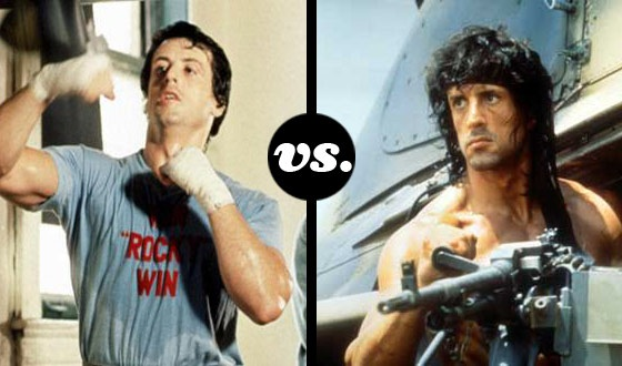 Not Now, Adrian! Rocky Takes on Rambo in a Tournament of Stallone Roles