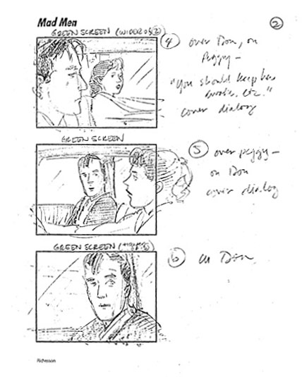 Mad Men Season 2 Storyboards 8 - Mad Men Season 2 Storyboards