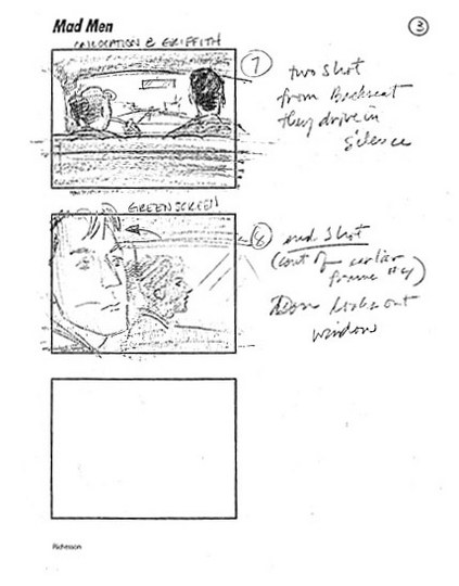 Mad Men Season 2 Storyboards 9 - Mad Men Season 2 Storyboards