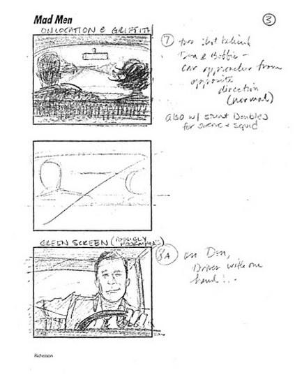 Mad Men Season 2 Storyboards 2 - Mad Men Season 2 Storyboards