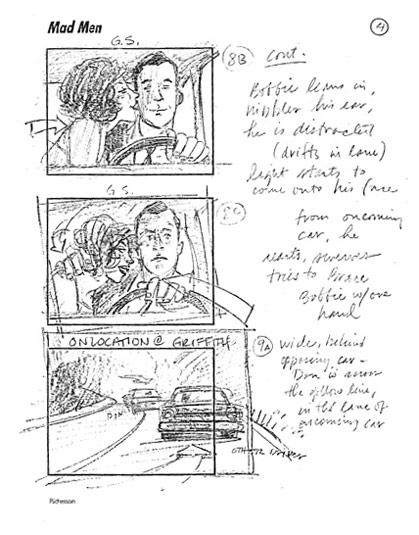 Mad Men Season 2 Storyboards 3 - Mad Men Season 2 Storyboards
