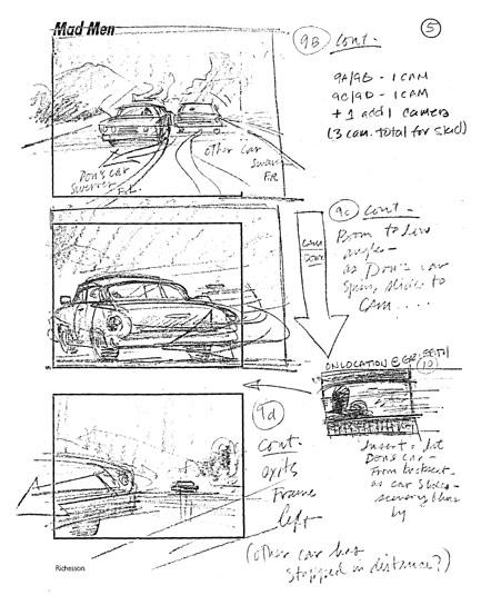 Mad Men Season 2 Storyboards 4 - Mad Men Season 2 Storyboards