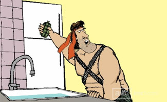 <em>Rambo, Domestic Warrior</em> &#8211; Satirical Video From Pulitzer-Winning Cartoonist Walt Handelsman