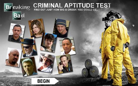 <em>Breaking Bad</em> Criminal Aptitude Test &#8211; What the Results Tell Us