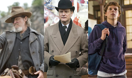 <em>The King&#8217;s Speech</em>, <em>True Grit</em>, and <em>The Social Network</em> Lead Oscar Noms &#8211; Who Should Win?