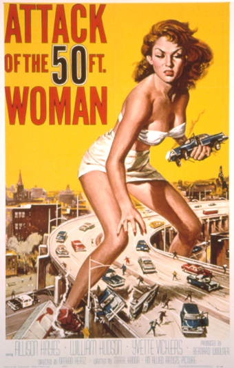 Most Iconic Movie Posters 8 - 4. Attack of the 50 Foot Woman