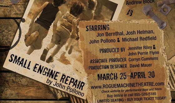 Jon Bernthal on Stage in Rogue Machine Theatre&#8217;s <em>Small Engine Repair</em>