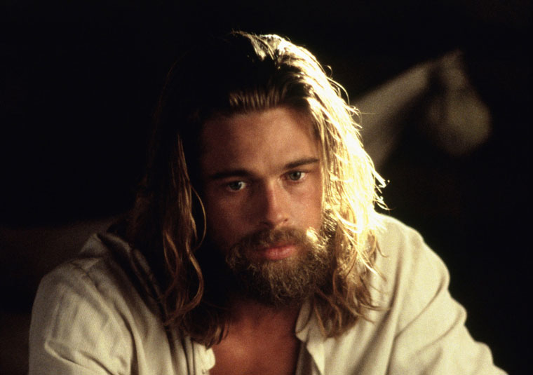 Pretty-Man Actors With Amazing Beards 10 - 2. Brad Pitt, Legends of the Fall