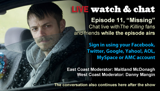 Watch &#038; Chat About <em>The Killing</em> Episode 11 This Sunday Night