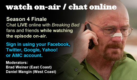Chat Online While Watching the Season 4 Finale On-Air This Sunday Night