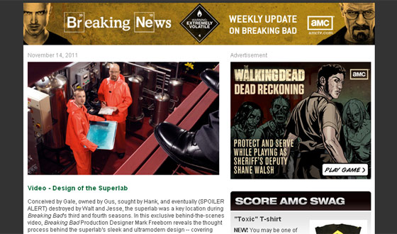 <em>Breaking Bad</em>&#8216;s Newsletter Gets an Upgrade With Bi-Weekly Prizes