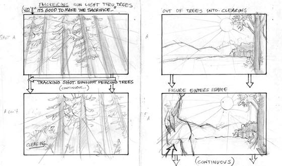 Photos &#8211; <em>Hell on Wheels</em> Sun Dance Storyboards