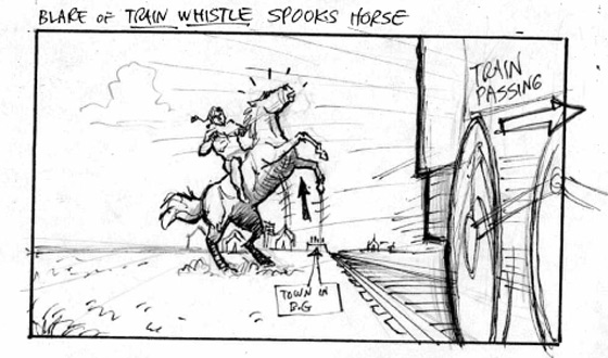 Photos &#8211; <em>Hell on Wheels</em> Train Race Storyboards