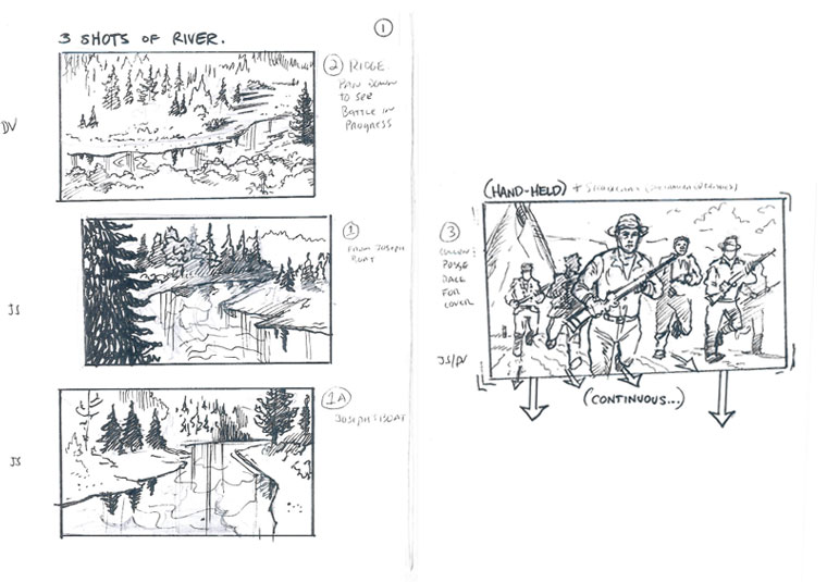 Hell on Wheels Indian Massacre Storyboards 1 - Hell on Wheels Indian Massacre Storyboards
