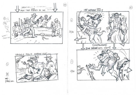 Hell on Wheels Indian Massacre Storyboards 2 - Hell on Wheels Indian Massacre Storyboards