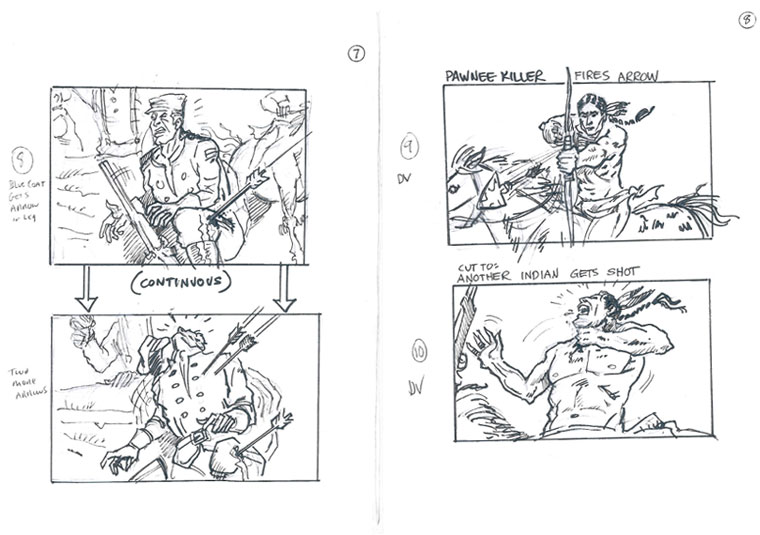 Hell on Wheels Indian Massacre Storyboards 3 - Hell on Wheels Indian Massacre Storyboards