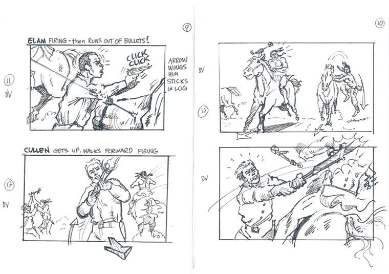 Hell on Wheels Indian Massacre Storyboards 4 - Hell on Wheels Indian Massacre Storyboards