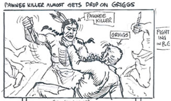 Photos &#8211; <em>Hell on Wheels</em> Indian Massacre Storyboards
