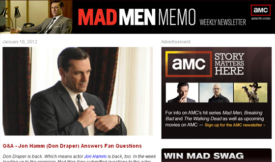 The <em>Mad Men</em> Newsletter Gets an Upgrade With Monthly Prizes