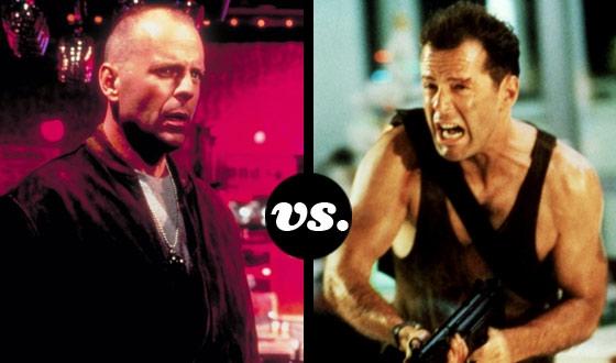Butch Coolidge (<em>Pulp Fiction</em>) vs. John McClane (<em>Die Hard</em>) in a Bruce Willis Tournament