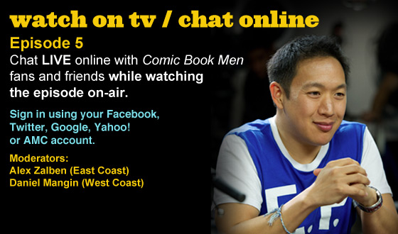 Chat Online While Watching Episode 5 of <em>Comic Book Men</em> This Sunday Night