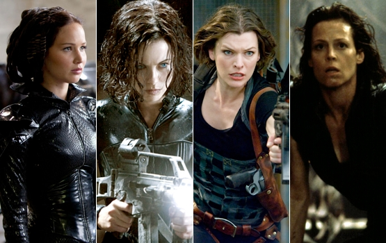 """What """"The Hunger Games"""" Owes to Milla Jovovich, Kate Beckinsale, and Sigourney Weaver"""
