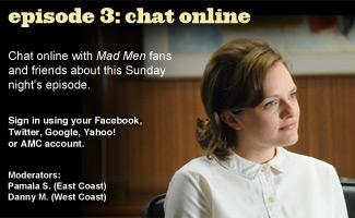 Chat Online About <em>Mad Men</em> Episode 3 on Sunday Night