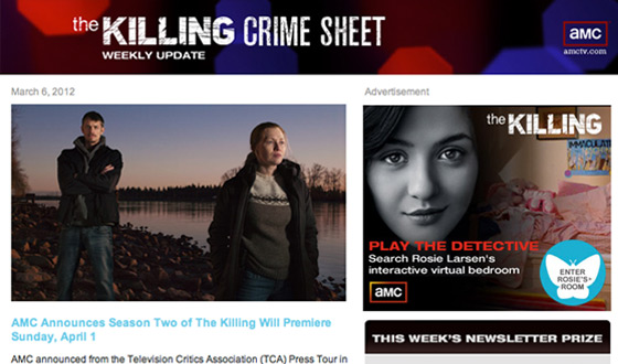 <em>The Killing</em>&#8216;s Newsletter Gets an Upgrade With Weekly Prizes