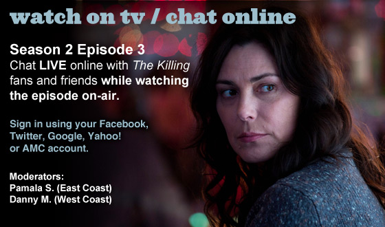Chat Online About <em>The Killing</em> Season 2 Episode 3 This Sunday Night