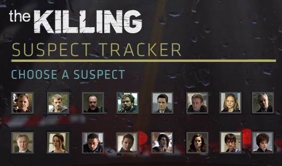 Want a Chance to Win $10,000? Choose a Prime Suspect With <em>The Killing</em> Suspect Tracker