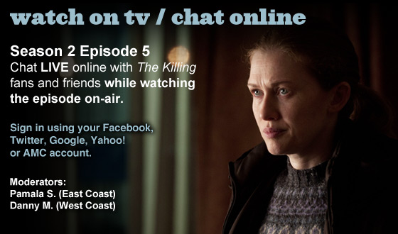 Chat Online About <em>The Killing</em> Season 2 Episode 5 This Sunday Night