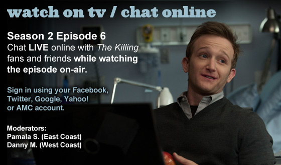Chat Online About <em>The Killing</em> Season 2 Episode 6 This Sunday Night
