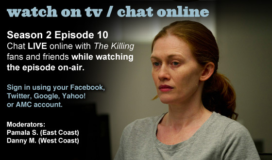 Chat Online About <em>The Killing</em> Season 2 Episode 10 This Sunday Night